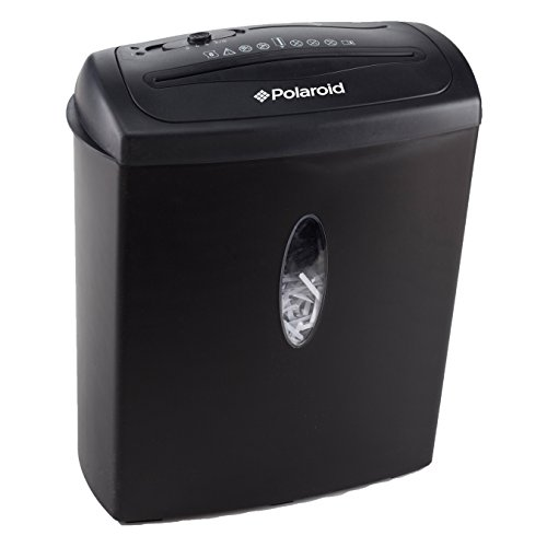 Polaroid Paper Shredder with 8-Sheet Shred Capacity and CD Shred