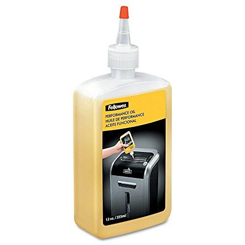 Fellowes Powershred Performance Shredder Oil, 12 oz. Extended Nozzle Bottle (35250)