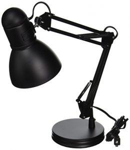 Boston Harbor Architect Swing Arm Desk Lamp, 26-Inches, Black