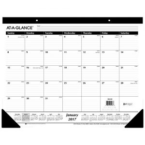AT-A-GLANCE Desk Pad Calendar 2017, Monthly, Ruled, 21-3/4 x 17″ (SK24-00)